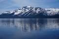 Snow capped mountains of lake tahoe photo show in beautiful located in nevada california in the united states beautiful water Stock Image