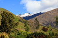 Snow capped mountains and ravines the on the south island of new zealand Royalty Free Stock Photos