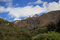 Snow capped mountains and ravines the on the south island of new zealand Stock Photos