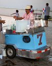 Snow cones street vendor selling in the casco viejo district of panama city completed and settled in casco viejo was designated a Royalty Free Stock Images