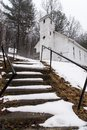 Snow Covered - Abandoned Mt. Zion United Methodist Church - Appalachian Mountains - West Virginia Royalty Free Stock Photo