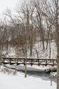 Snow covered bridge Royalty Free Stock Photo