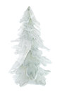 Snow covered christmas tree isolated on white background Royalty Free Stock Photos