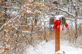 Snow covered holiday mail box Royalty Free Stock Photo