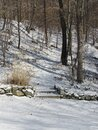Snow covered landscape in the winter time Royalty Free Stock Photo