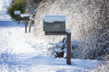 Snow Covered Mailbox Royalty Free Stock Photo