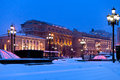 Snow covered Manege square in winter Royalty Free Stock Images