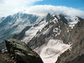 Snow-covered mountain peaks Royalty Free Stock Photo