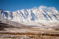 Snow covered mountains in central iran near yazd februar Stock Image