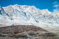 Snow covered mountains in central iran near yazd february Royalty Free Stock Images
