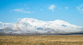 Snow covered mountains in central iran near yazd february Stock Photo