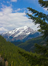 Snow covered mountains pacific northwest part united states Royalty Free Stock Image
