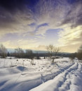 Snow covered path Royalty Free Stock Image