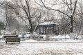 Snow Covered Pavilion