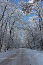 Snow-covered road Stock Photography