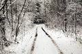 The snow-covered road Royalty Free Stock Photo