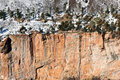 Snow covered rock formation Royalty Free Stock Photography