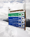 Snow covered sign. Royalty Free Stock Photo