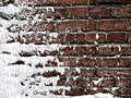 Snow covered Wall Royalty Free Stock Photo