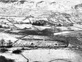 Snow covered yorkshire countryside with moorland landscape Royalty Free Stock Photo