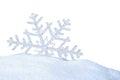 Snow crystal Royalty Free Stock Photo