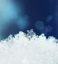 Snow crystals snowfall winter beautiful season background Stock Photo