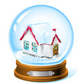 Snow dome Royalty Free Stock Images