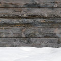 Snow drift on wood boards Royalty Free Stock Photo