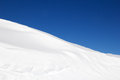 Snow drifts in the swiss alps Stock Photos