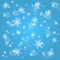 Snow fall. Abstract winter background. Stock Photography