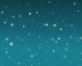 Snow fall in blue sky, Christmas night background Royalty Free Stock Photo