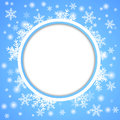 Snow fall holiday winter theme background vector Stock Images