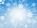 Snow flake design Stock Image