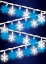 Snow Flake Lights Royalty Free Stock Photos