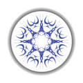 Snow flake medallion Stock Image