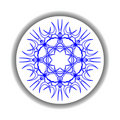Snow flake medallion 2 Stock Photo