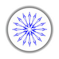 Snow flake medallion 6 Royalty Free Stock Photography