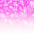 Snow Flake On The Pink Background Stock Photography