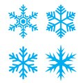 Snow flake vector icon Royalty Free Stock Photo