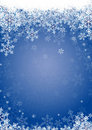 Snow flakes blue Stock Image