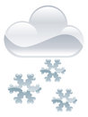 Snow flakes clouds illustration weather icon clipart Royalty Free Stock Photos