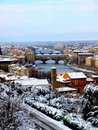 Snow in Florence Stock Photography