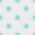 Snow flowers seamless pattern texture vector Stock Photo