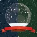 Snow Globe - Christmas Magic Ball On The Snow Royalty Free Stock Photo