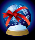 Snow globe ribbon Stock Photography