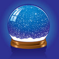 Snow globe with stars Stock Images