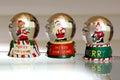Snow Globe Trio Royalty Free Stock Photo