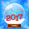 Snow globe 2017 vector