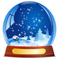 Snow globe - vector file added Stock Photos