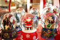Snow globes christmas Stock Image